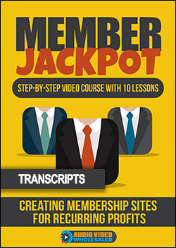 Member Jackpot - Automated Membership Machine (Transcripts)